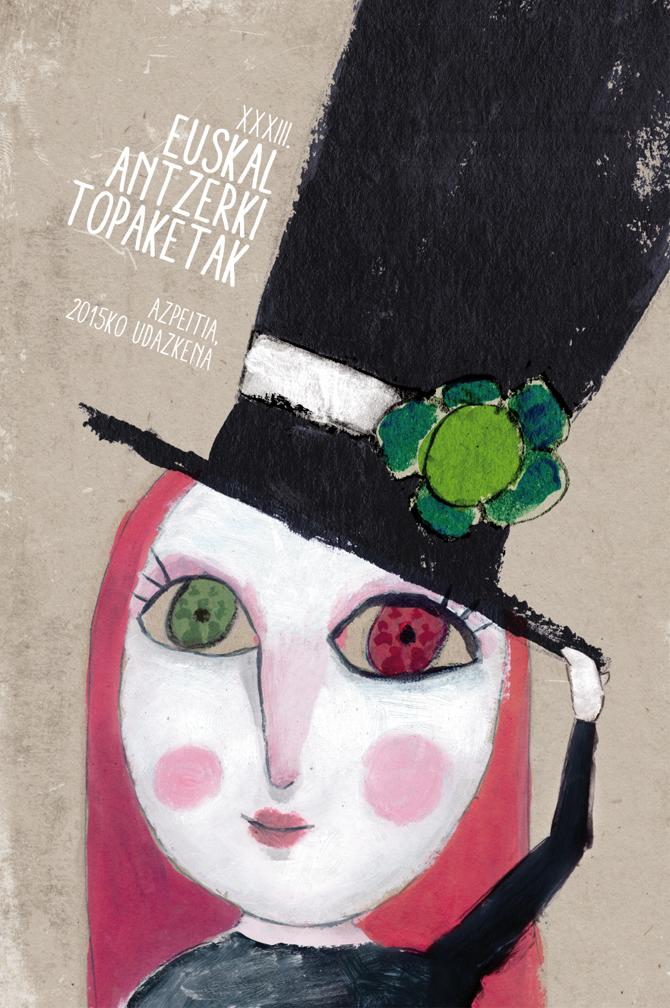 Cartel ganador del concurso 'XXXIII Euskal Antzerki Topaketak' que se celebra en Azpeitia